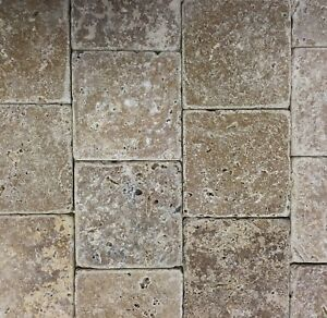 Details about Noce 4x4 Tumbled Travertine Tile Backsplash Floor Wall (Sold  by Square-foot)Bath