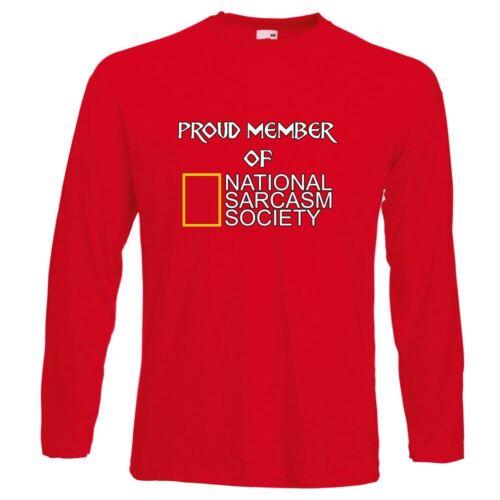 Mens Funny T Shirts-Member National Sarcasm Society tshirt-Long Sleeve tshirt 28