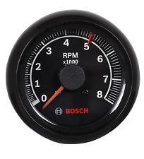"Bosch 2-5/8"" Sport II Tachometer Black / Black Bezel 0-8000 RPM FST7906"