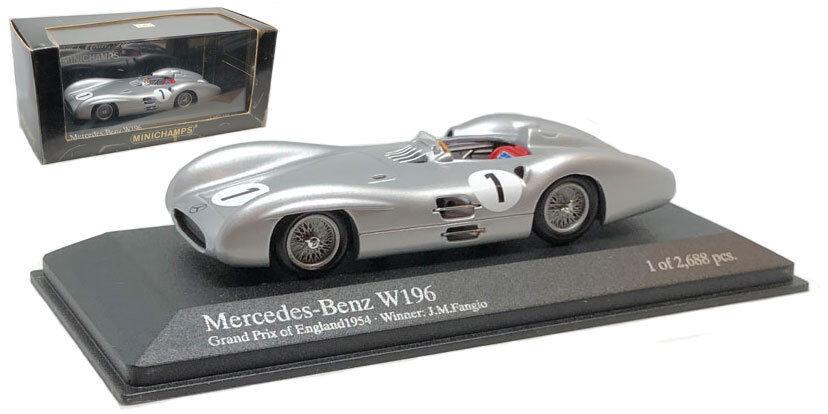Minichamps MERCEDES BENZ W196  1 WINNER BRITISH GP 1954-J M FANGIO scala