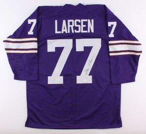 eed1c64b6 Gary Larsen Signed Vikings Throwback Jersey (TSE COA) 2× Pro Bowl ...