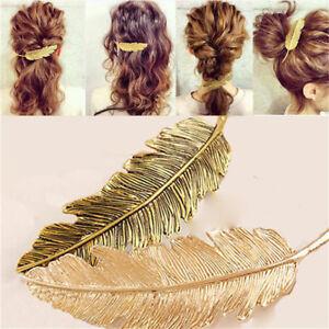 Charm-Women-Leaf-Feather-Hair-Clip-Hairpin-Fashion-Head-Jewelry-Hair-Accessories