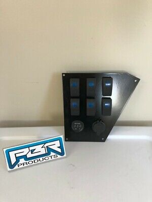 8 Honda pioneer 1000 4 over 4 switch holes dash plate bracket 2 power outlet