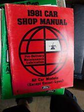 1981 FORD GRANADA FAIRMONT THUNDERBIRD MUSTANG PREDEL MAINTENANCE SHOP MANUAL