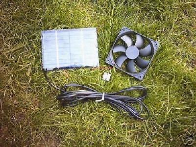 Pet Supplies Solar Ventilator Kit,3 Watt,80mm Fan,grill,for Dog Kennel,poultry/chicken House