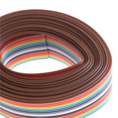 Dupont Line 2M 1.27mm Pitch 16 Pin Flat IDC Ribbon Extension Cable Wire YJ