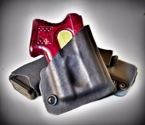 SpeedClip .08 Black Kydex Right Handed Kimber Pepper Blaster II Holster OWB
