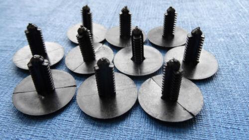 10 X JAGUAR BLACK TRIM PANEL FIR TREE//SPRUCE BUTTON CLIPS