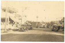 Jackman Station ME Main Street Store Fronts Mobil Gas Real Photo Postcard