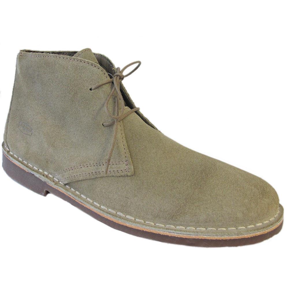 Para Hombre Ikon Original Clásico De Cuero Gamuza Beige Gobi botas Desierto Mod 7 - 12