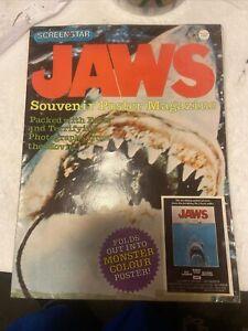 Jaws Official Movie Souvenir Magazine 1975- Poster Rare