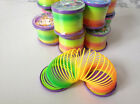 1x Rainbow Coloured Spring Slinky Childrens Toy Springs Bouncy Toy For Party FO