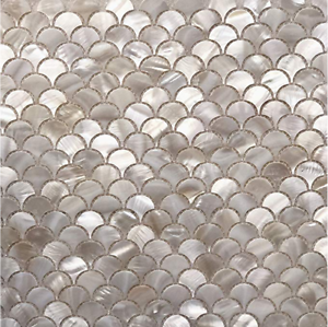 Fish Scale Mother Of Pearl Mosaic Tile