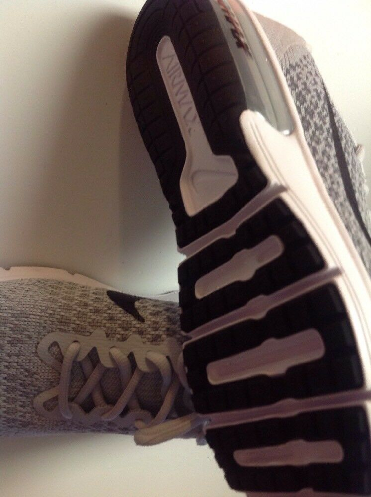Nike Air Max 852461-002 Sequent 2 Mens 852461-002 Max Platinum Grey Knit Running Shoes Size 8 ea3752