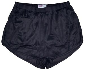 Black-Nylon-Ranger-Panties-Silkies-Running-Track-Shorts-by-Soffe-Men-039-s-3XL