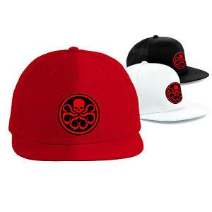 HYDRA-Cap-Superhero-Snapback-Rapper-Hat-MARVEL-Comics-AVENGERS-Embroidered-Cap
