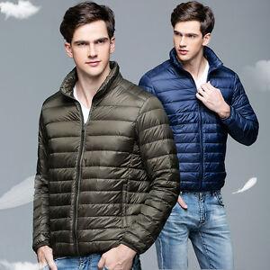 Factory-Sale-men-039-s-Ultralight-Hooded-90-Down-Jacket-Puffer-Parka-coat