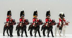 5 Giubbe Rosse Dragoon Ussaro Playmobil Per Brite Garde Tschakko Waterloo Vs