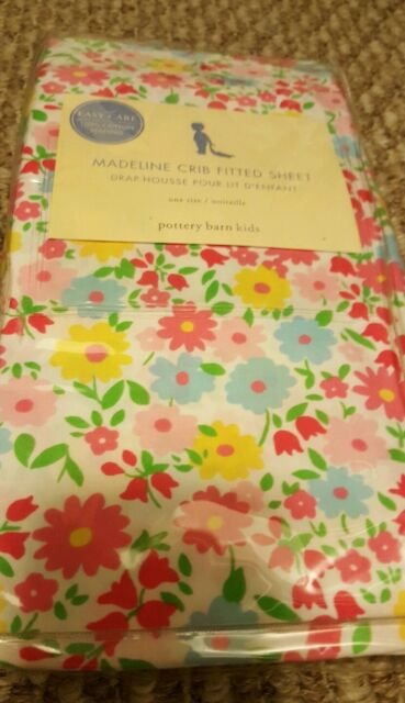 New Pottery Barn Kids Madeline Floral Crib Sheet Toddler