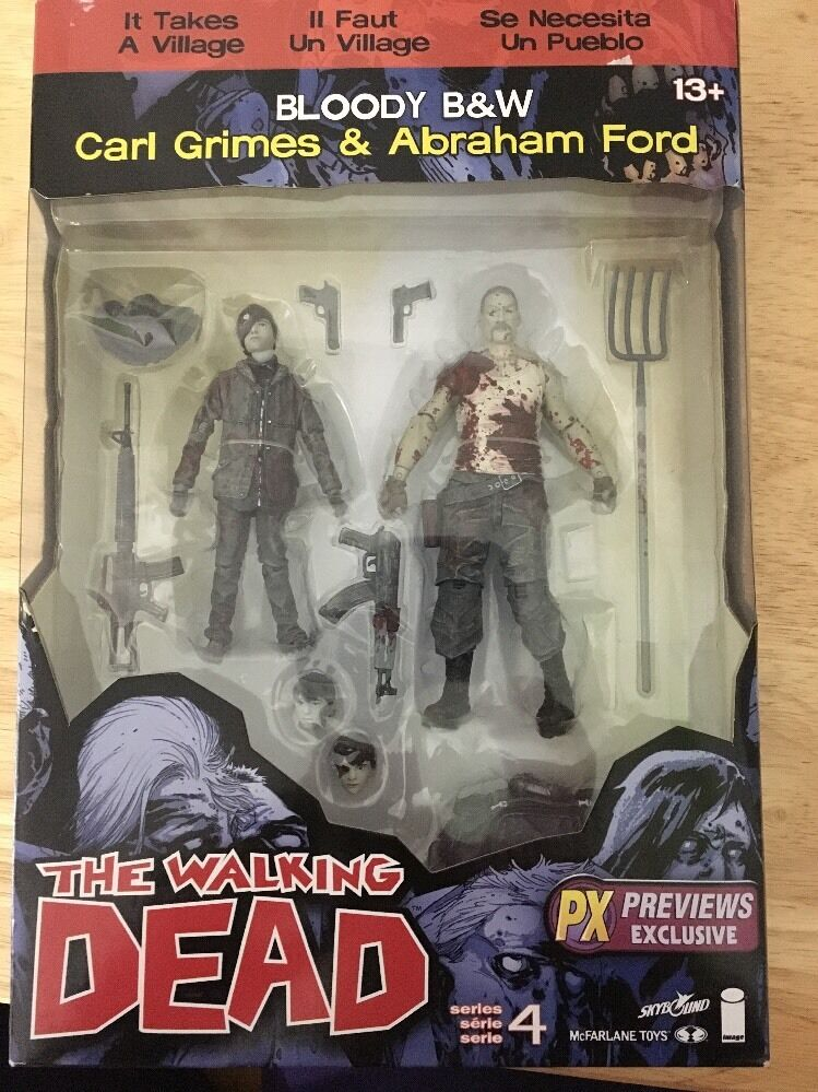 The Walking Dead Action Figures Series 4 Carl Grimes Abraham Ford