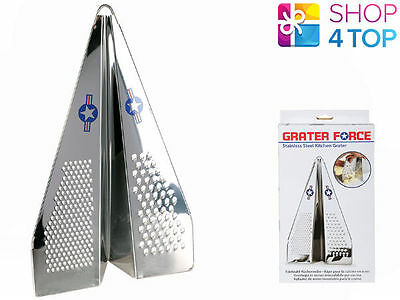GRATER-FORCE-FIGHTER-PLANE-JET-SHAPE-STAINLESS-STEEL-SHREDDER-KITCHEN-CHEESE-NEW