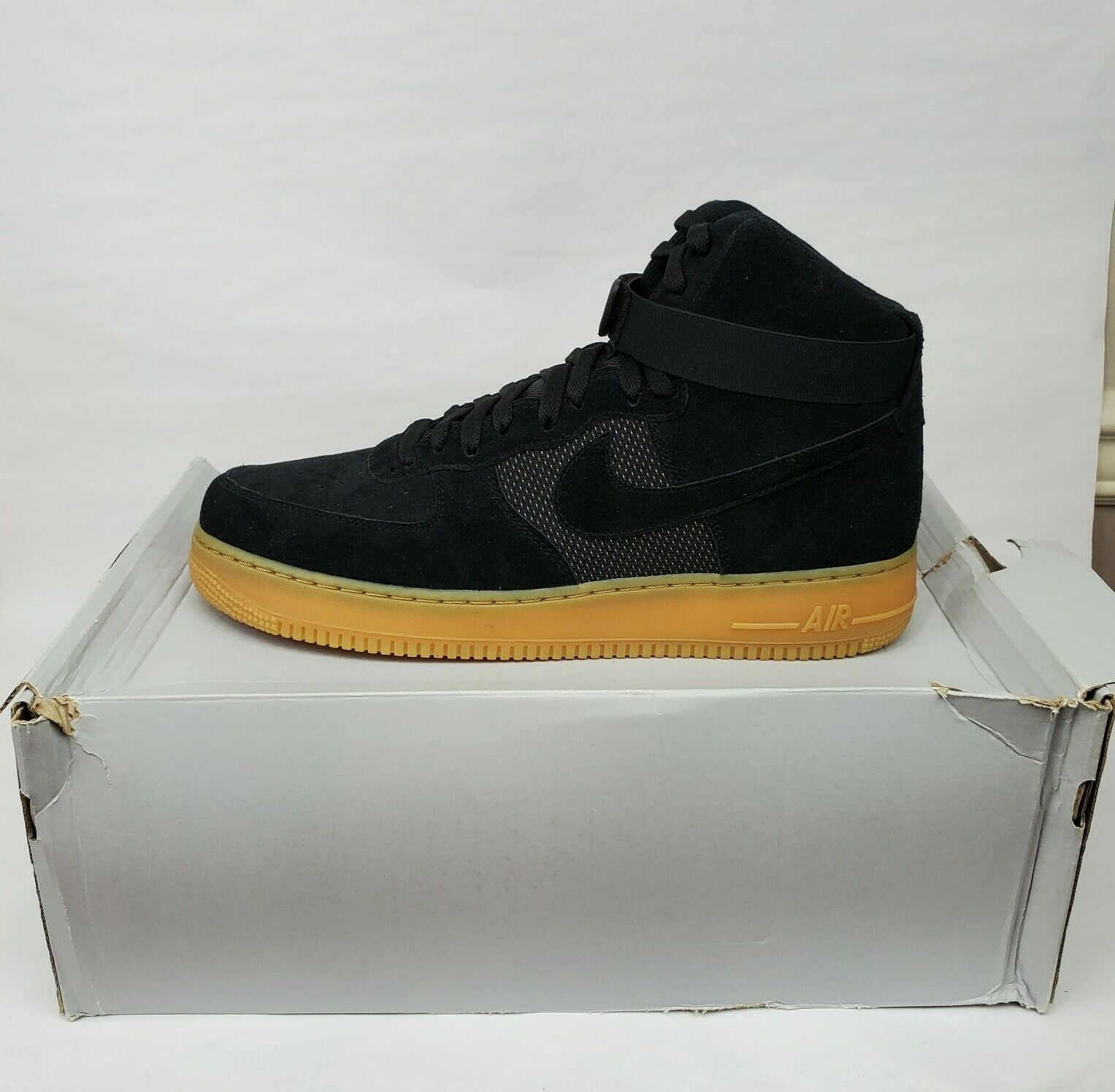 New Nike Size 12 M Air Force 1 High 07 Lv8 Black Gum Light Brown 806403 003 For Sale Online