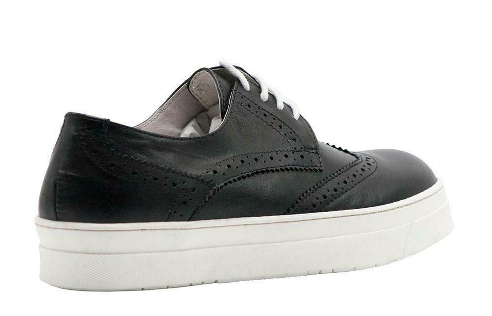 8100 Melrosa 8100 Melrosa nero Leather Wingtip Lace Up Dimensione 40
