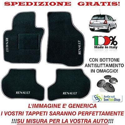 98-05 Tappeti Tappetini per AUTO Renault CLIO 2 Disponibili in più Colori!