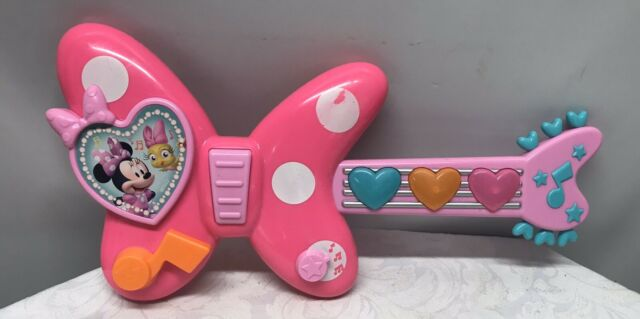Disney Minnie Bow-Tique Rockstar Guitar - Toy Guitar - Plays Music & Lights Up