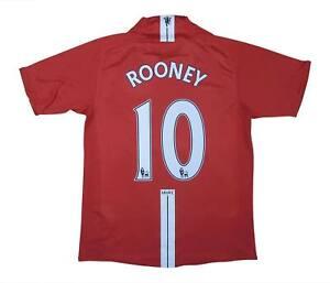 Manchester United 2007-09 Authentic Maglietta Rooney #10 (eccellente) S