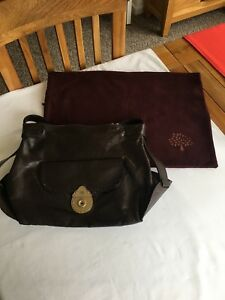 b922cb6ee4 Image is loading Mulberry-Genuine-Rivington-Bag-Chocolate -Havana-Leather-with-