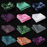 FG Paisley Floral Men Silk Satin Pocket Square Hanky Wedding Party Handkerchief