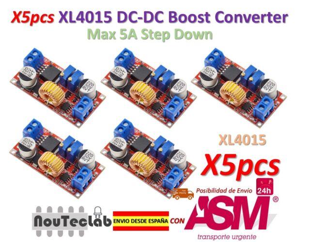 5pcs 5A Max XL4015 DC to DC CC CV Step-Down Lithium Battery Charger Converter