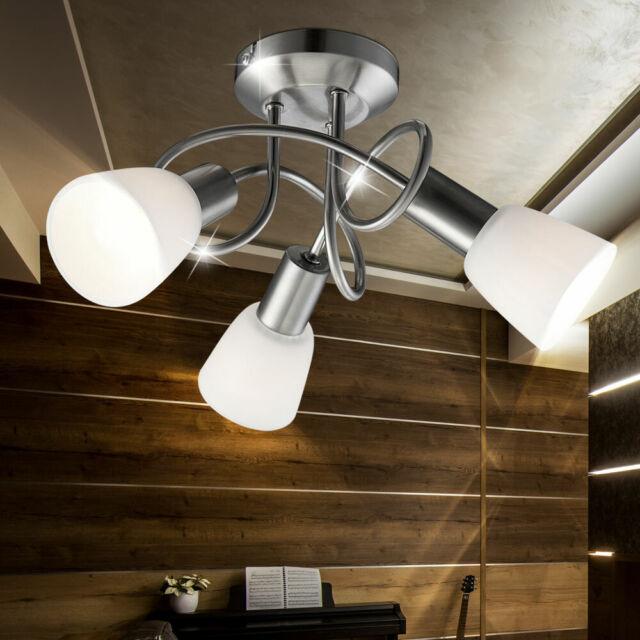 Wandleuchte Deckenleuchte Diele Glas LED weiss Wohnzimmer