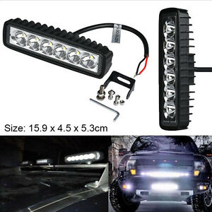 New-18W-Flood-LED-Light-Work-Bar-Lamp-Driving-Fog-Offroad-SUV-4WD-Car-Boat-Truck