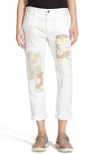 NWT-Stella-McCartney-The-Skinny-Embroidered-Patchwork-Boyfriend-Jeans-27-28-29