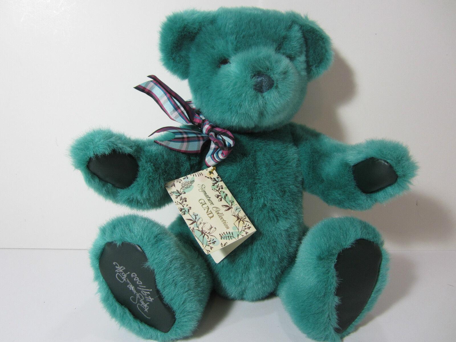 VTG NEW NWT GUND Plush Bear Signature Collection AUTO Smitherverdes Limited Rare