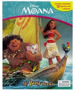 Moana-My-Busy-Book-With-12-Figurines-amp-Playmat-Cake-Topper-Birthday-Party-Gift
