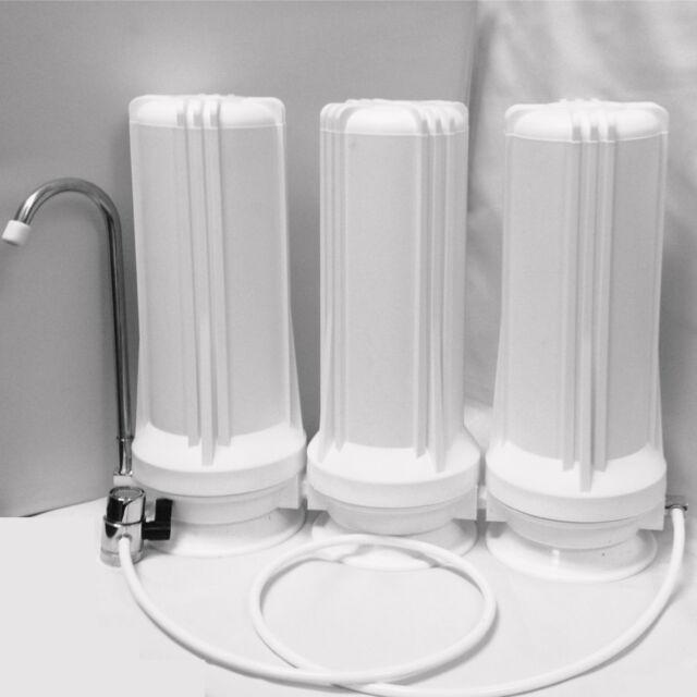 Titan Water Pro Triple Counter Top Water Filter Carbon/Alkaline/KDF/GAC/Flouride