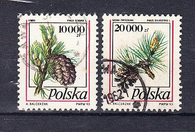 Frauen Und Kinder Polen Briefmarken 1993 Nadelbaumzapfen Mi.nr.3456+57 Gestempelt Geeignet FüR MäNner Briefmarken