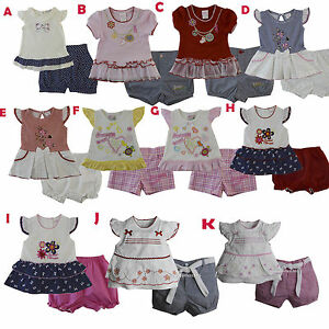 bab939ceb94a New Baby Girls Outfits Clothes 2 Pieces Shirt Shorts Size 3 6 9 12 ...