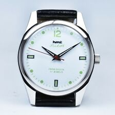HMT Pilot, White, hand winding mechanical watch, Red Hand