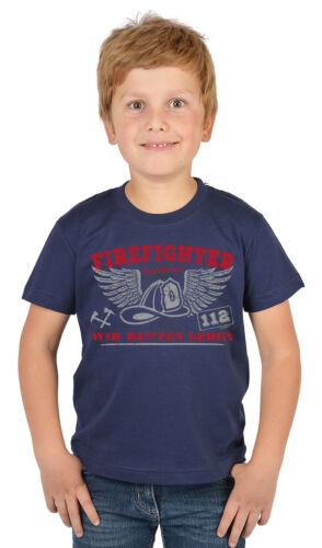 Kindershirt Feuerwehr lustiges Feuerwehr Sprüche T-Shirt Kinder Feuerwehrshirt