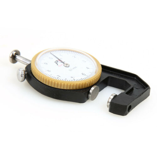 Flat Head Details about  /0-10mm 0.1mm Dial Leather Paper Thickness Gauge Meter Tester