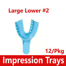 Dental Impression Trays Perforated Plastic Autoclave 2 Large Lower 2 12bag