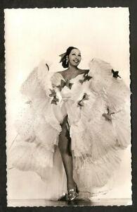 JOSEPHINE-BAKER-RARE-REAL-PHOTO-VINTAGE-POSTCARD-1930s-GREAT-CARD