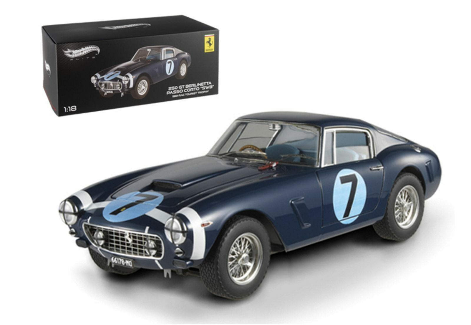 1 18 Hot Wheels Elite Ferrari 250 GT Berlinetta Passo Corto  SWB  1961 Goodwood
