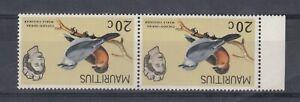 Mauritius-QEII-1965-20c-Pair-Watermark-Inverted-MNH-J8066