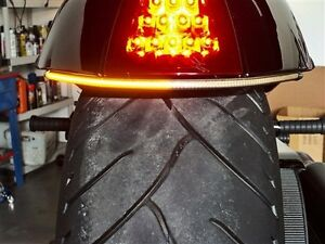 VICTORY-HAMMER-UNDER-FENDER-RED-LED-TURN-SIGNAL-BAR-KIT-Smoked-Lens