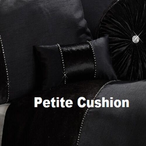 Luxury Crushed Velvet Duvet Cover Set Quilt Bedding Silver Grey Diamante Bling